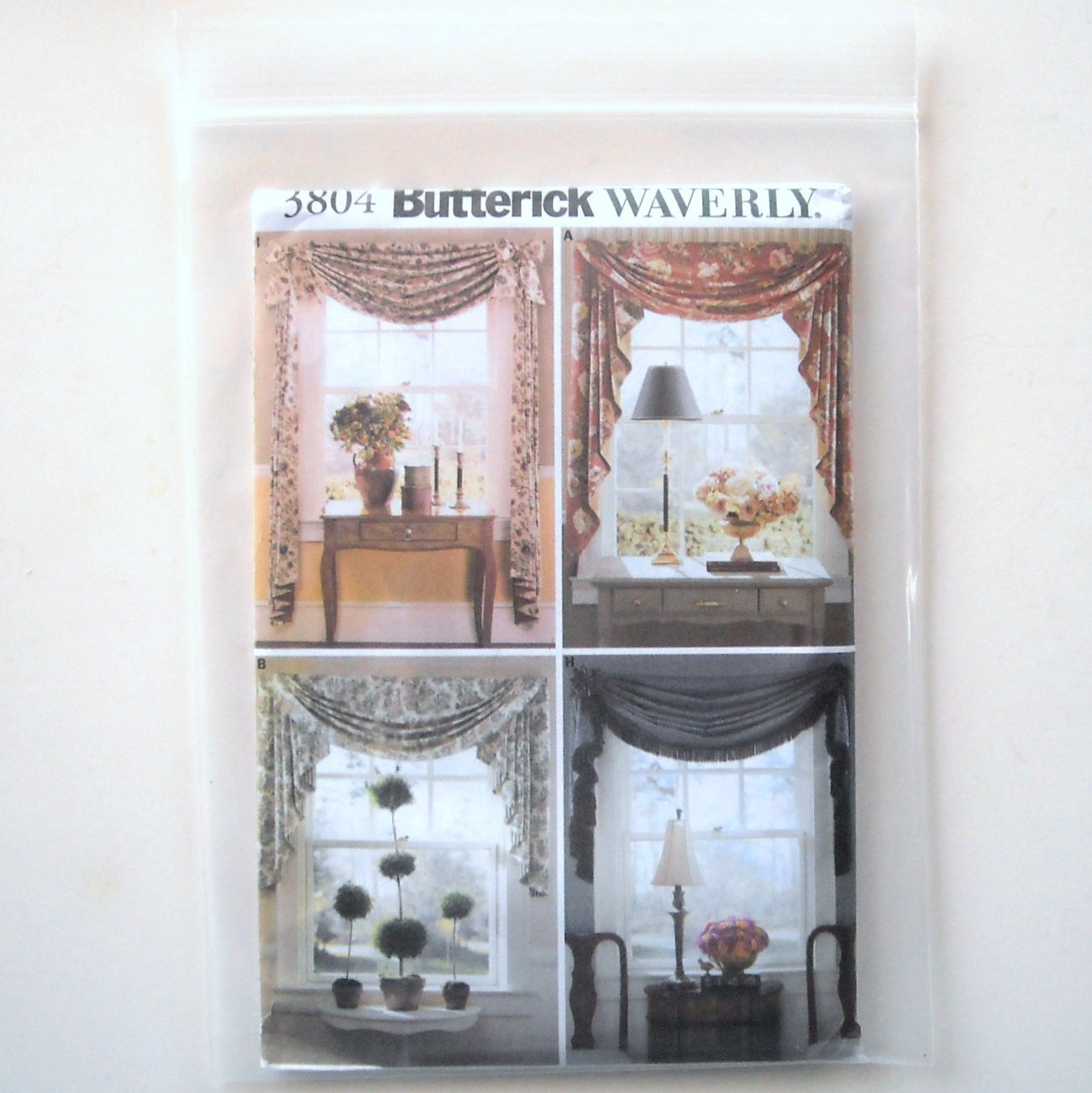 Butterick Pattern B3804 Waverly Window Treatments Swags Jabots