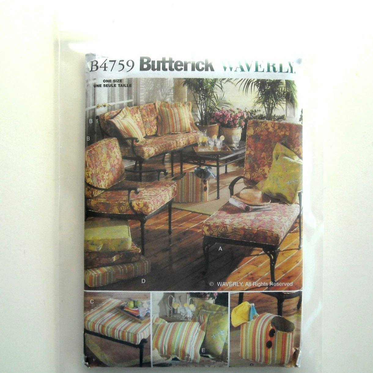 Butterick Pattern B4759 Waverly Outdoor Living Seat Cushion