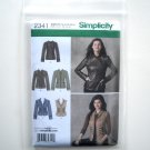 Simplicity Pattern 2341 Size 16 - 24 Misses Coats Jackets
