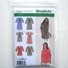 Womens Misses Tunic Size 6 8 10 12 14 Simplicity Pattern 2365