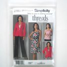 Simplicity Pattern 2703 Size 16 - 24 Threads Step By Step Misses Womens Dress Top Pants Jacket