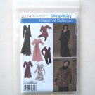 Simplicity Pattern 2774 10 12 14 16 18 Khaliah Ali Misses Womens Tunic Knit Dress