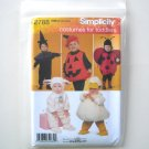 Simplicity Pattern 2788 Size 1/2 - 4 Witch Pumpkin Ladybug Costumes For Toddlers