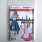 Simplicity Pattern 3847 Size 6 - 12 Andrea Schewe Misses Diner Waitress Halloween Costumes