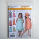 Simplicity Pattern 3859 Size 3 - 8 Childs Girls Hat Dresses
