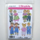 "Simplicity Pattern 4268 One Size Wrights Design By Teri 15"" Doll Clothes Dress Overalls"