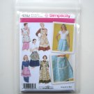 Simplicity Pattern 4282 Size S - L Design By Teri Womens Misses Aprons Six Styles