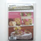 Simplicity Pattern 4341 Home Decorating Easy Kitchen Accessories Tea Cozy Oven Mitt Mat Napkin