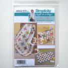 Simplicity Pattern 4663 Quilt In A Day Eleanor Burns Pinwheel Diaper Bag Baby Changing Pad