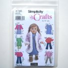 "Simplicity Pattern 4786 Elaine Heigl Designs Crafts 18"" Doll Clothes"
