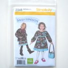 Simplicity Pattern 2348 Size 2 - 5 Daisy Kingdom Childs Girls Dress Jacket