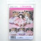 "Simplicity Pattern 2462 Faith Van Zanten 21"" Stuffed Doll Clothes Dress Pinafore"