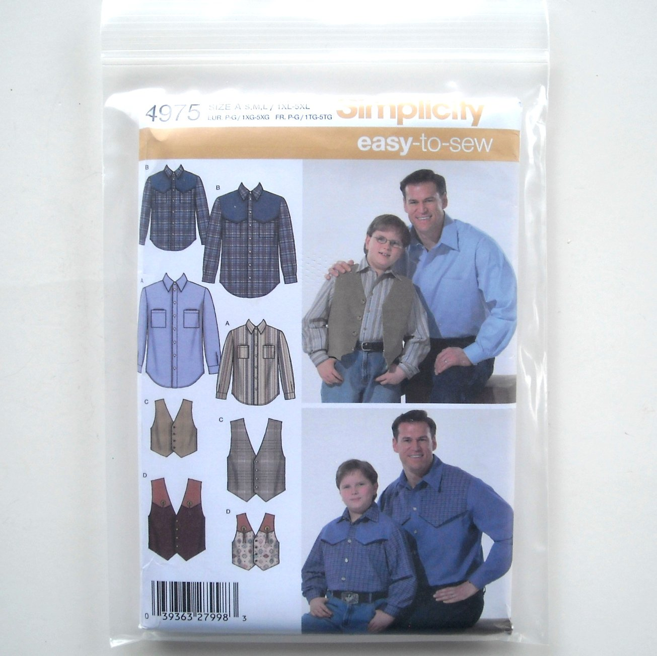 Big And Tall Mens Vest Pattern