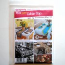 Simplicity Pattern 5530 Easy Table Accessories Chair Pads