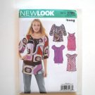 Womens Misses Pullover Tops Size 6 - 16 New Look Simplicity Pattern 6780