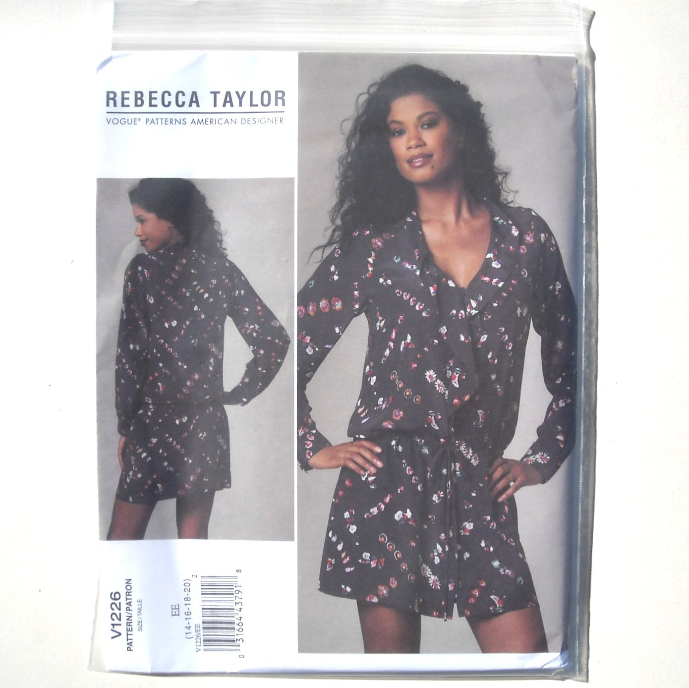 Vogue Designer Pattern V1226 Out Of Print Rebecca Taylor Size 14 - 20 Misses Dress
