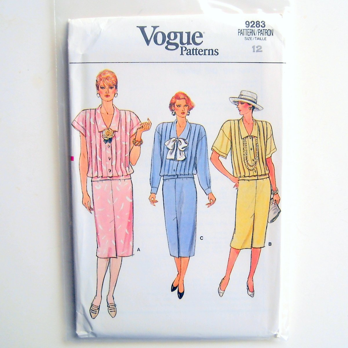 Misses Top and Skirt Size 12 Vogue Pattern 9283