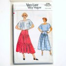 Vogue Very Easy Pattern 9296 Size 12 - 16 Misses Skirt