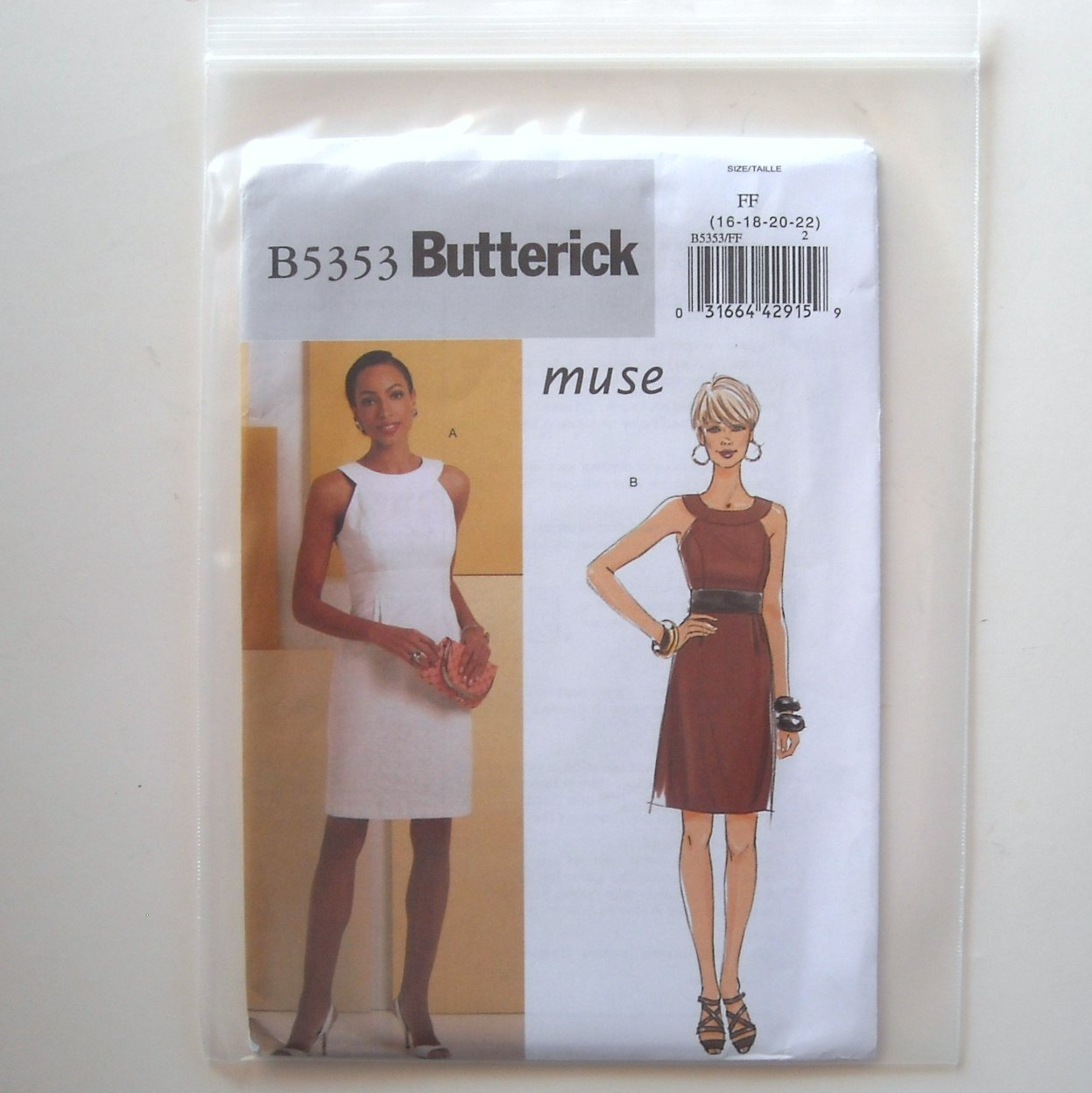 Misses Dress Size 16 - 22 Butterick Pattern B5353