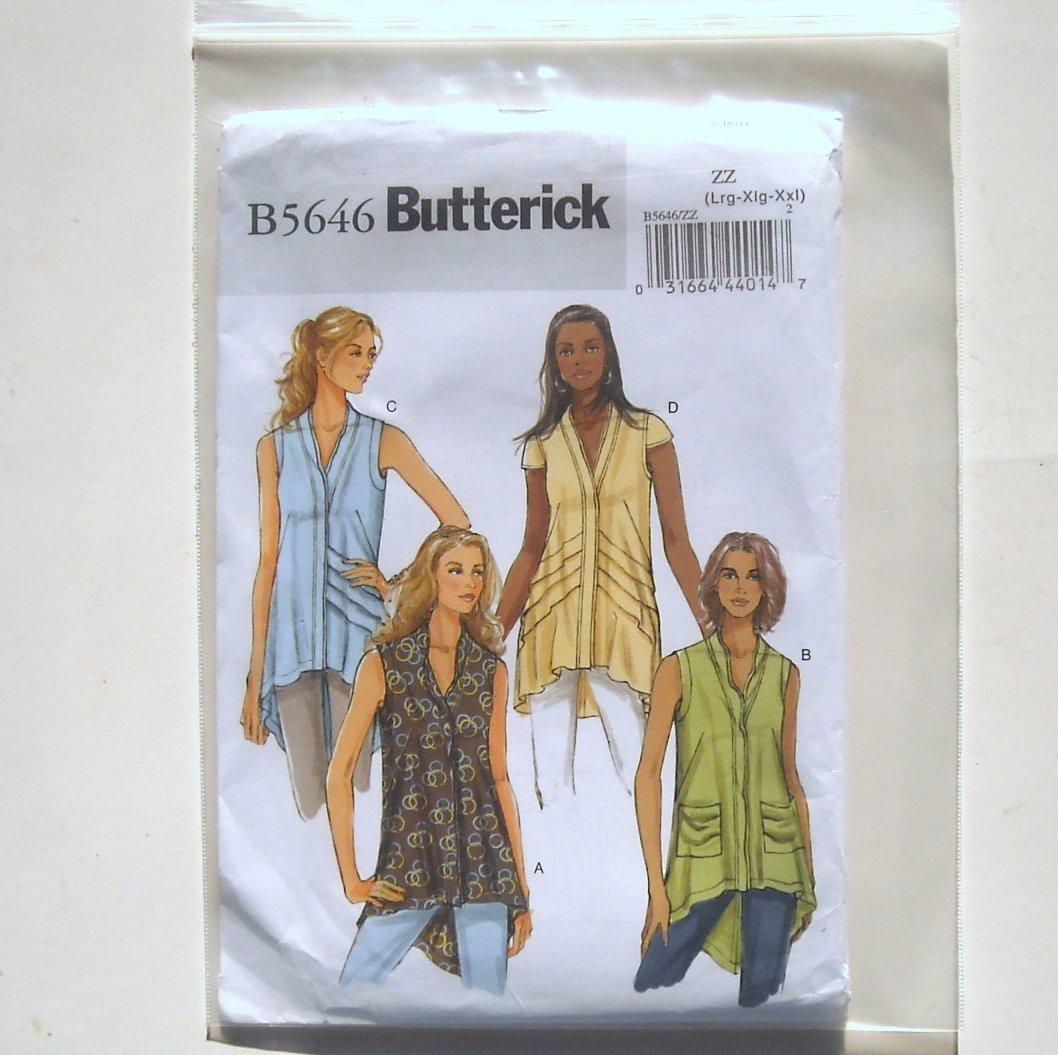 Butterick Pattern B5646 Size L - XXL Misses Tunic