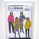 Butterick Pattern B5692 Size 26W - 32W Womens Petite Cardigan Top Tunic Dress Belt Pants