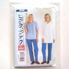 See and Sew Easy Pattern 3946 Size 14 - 18 Misses Top and Pants