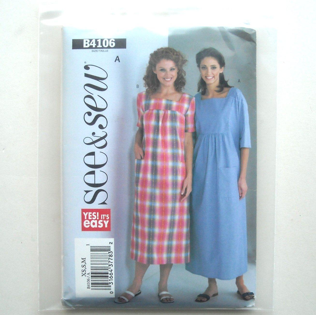Misses Petite Dress Size XS - M See and Sew Pattern B4106
