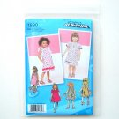 Toddlers Girls Dresses Jumper Vest 05 - 3 Project Runway Simplicity Sewing Pattern 1890