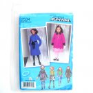 Girls Coat Jacket Vest 3 - 6 Project Runway Simplicity Sewing Pattern 2534