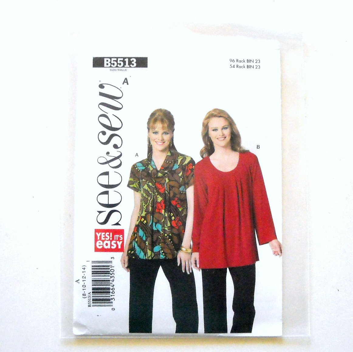 Misses Top Tunic 8 10 12 14 See Sew Butterick Pattern B5513