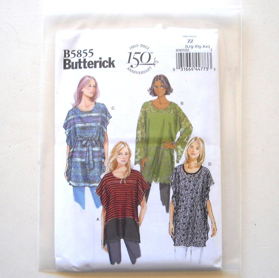 Misses' Tunic and Belt Size L - XXL Butterick Pattern B5855
