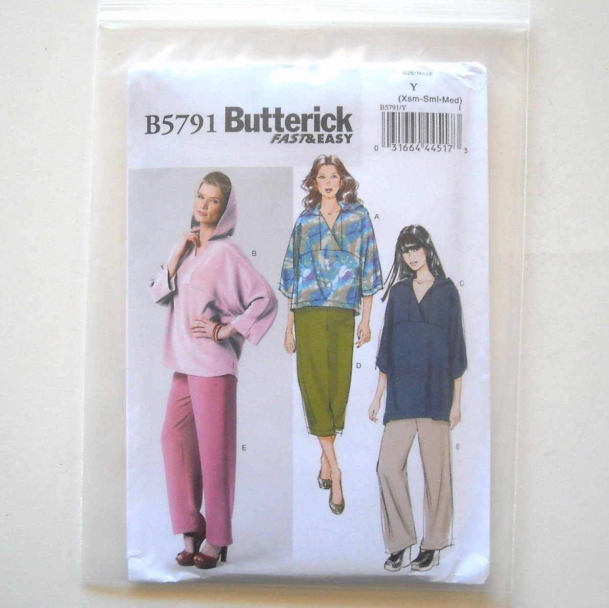 Misses' Top Tunic Pants Size XS - M Butterick Pattern B5791