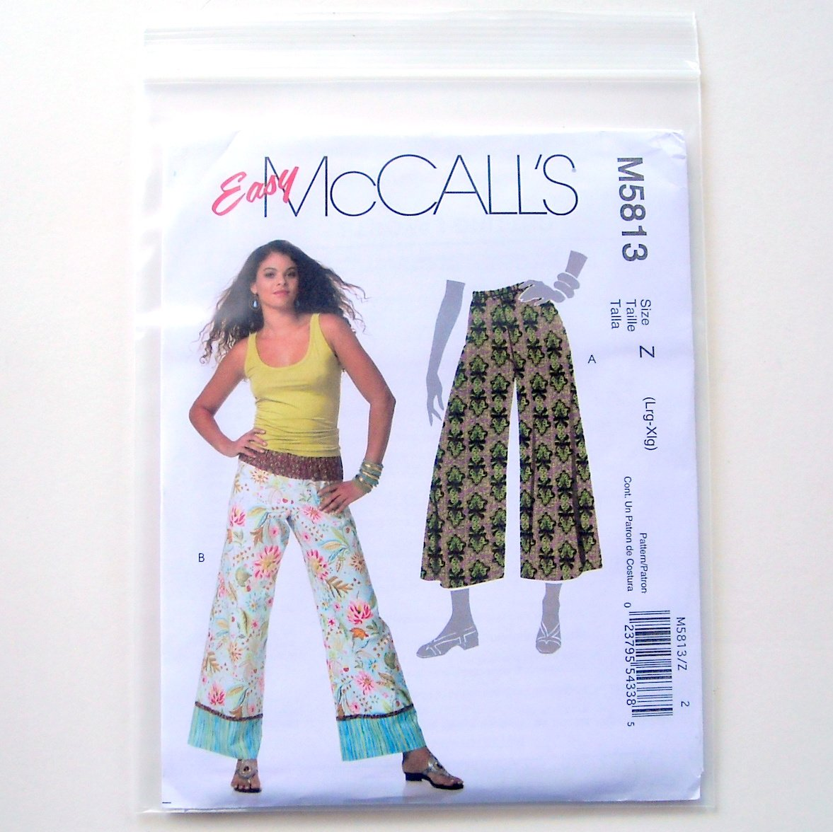 Misses Miss Petite Pants 2 Lengths Size L XL McCalls Sewing Pattern M5813