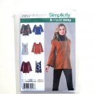 6 Tunics Top Size 16 - 24 Karen Z Simplicity Sewing Pattern 2852
