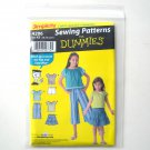 Girls Separates Top Skirt Pants Shorts For Dummies Size 7 - 14 Simplicity Sewing Pattern 4206