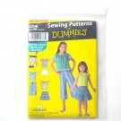 Childs Separates Top Skirt Pants Shorts For Dummies Size 3 - 6 Simplicity Sewing Pattern 4206