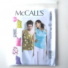 Misses Lined Tops Plus Size L - XXL McCalls Sewing Pattern M6562