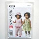 Infants Top Dress Panties Hat See Sew Butterick Pattern B5629
