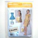 Misses Dress Top Skirt Bag Size 6 - 14 Lisette Simplicity Pattern 1666