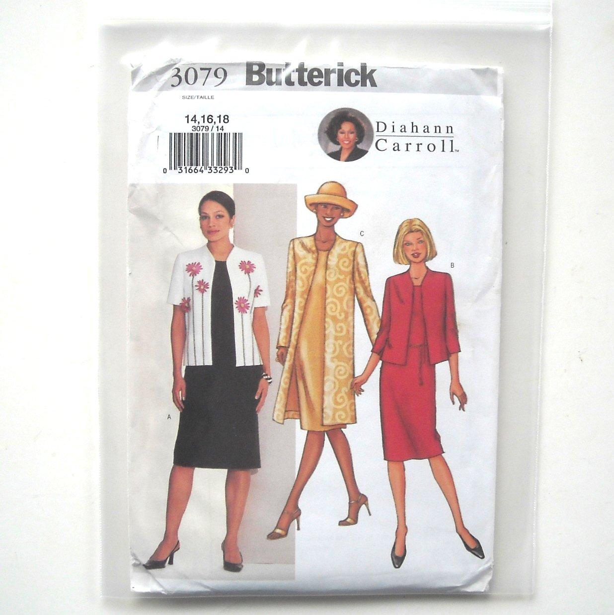 Dress Jacket Misses Size 14 - 18 Butterick Pattern 3079