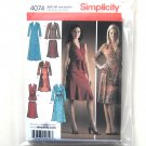 Knit Dress Top Pull on Skirt Sash Plus Size Simplicity Sewing Pattern 4074