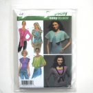 Misses Knit Woven Capelet Tops Simplicity Sewing Pattern 4485