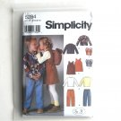 Childs Girls Boys Pants Jacket Back Bag In K Designs Simplicity Pattern 5284