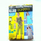 Girls Pullover Dress Top Capri Pants Shorts 12 14 16 Dummies Simplicity Sewing Pattern 5577