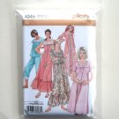Nightgown Pajamas Robe XS S M Simplicity Sewing Pattern 4048