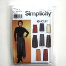 Misses One Piece Skirts XS S M Simplicity Sewing Pattern 7015