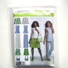 Misses Pants Skirt Tunic Shirt 8 10 12 14 Simplicity Sewing Pattern 4695