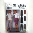 Misses Slim Pants Skirt 8 10 12 14 Simplicity Sewing Pattern 5259