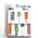 Misses Skirts Pants Shorts L XL Simplicity Sewing Pattern 5063