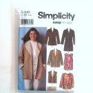 Misses Coat Jackets Vest L XL Simplicity Sewing Pattern 5306